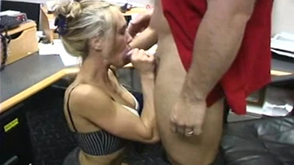 Super hot MILF Brandi Love having sex at the office