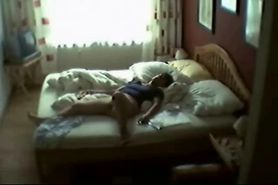 milf dont suspect i placed hidden cam in her bed room