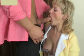 Russian Mature Maid and boy