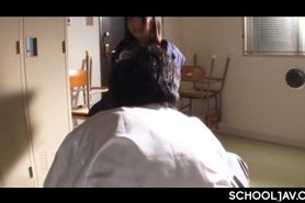 Tied up Japanese school girl mouth fucked by force and jizzed