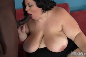 Bodacious brunette Desiree Devine's huge body is fucked interracial