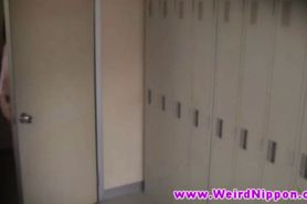 Hot young asian babes nude in locker room