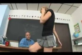 Tiny Blonde Teen Fucks Teacher For Grades