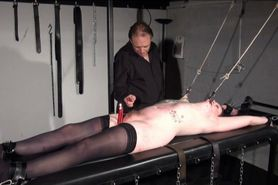 Racked amateur slave in hardcore bdsm and nipple tortured tattooed submissive in extreme fetish footage of Precious