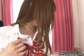 Hot Japanese school girl has a morning part2