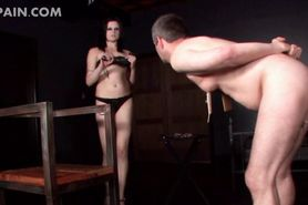 Extreme sex with tortured male sex slave