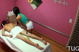 Sex during massage is a surprise