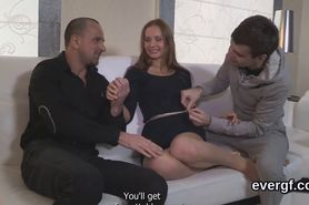Penniless guy lets foxy friend to shag his exgf for money
