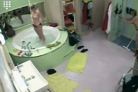 Big Brother NL  Hot Blond Teen Girl Bathing and shower