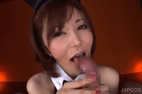 BJ in close-up with asian bunny