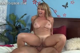 Wild blonde mom fucks boy