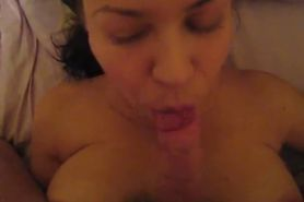 Wife is doing Blowjob then I cum on her face