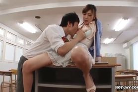 Japanese Girls enchant fascinated teen girl at school.avi