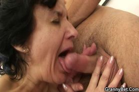 Granny tourist gets picked up and pounded