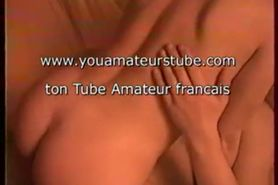 Hot french couple fucking on a sofa