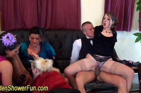 Pissing orgy with blowjob oral