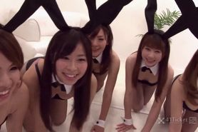 Japanese Bunny Orgy -Uncensored JAV-