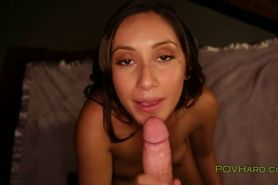 Busty Latina with big ass fucking in POV