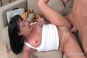 Tattooed hot MILF getting her soft craving twat fucked deep