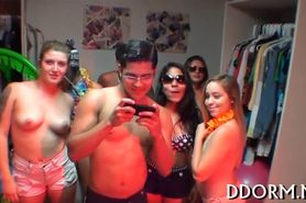 Provocative and hot orgy party