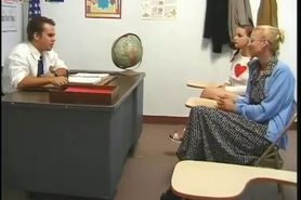 Teacher fucked mom and daughter in classroom