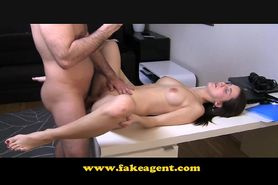 FakeAgent Timid student first time creampie
