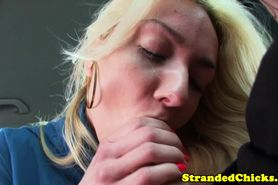 Stranded euroteen gives head and sucks balls