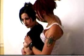 punk gothic lesbian suicide girls make out