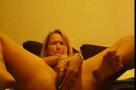 Cute woman having a good orgasm with her toy