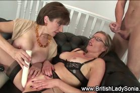 British milf Lady Sonia facial