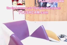 Stunning Big Tits Asian Enjoying PLUSHCAM Lovense Sex Vibe That You Control
