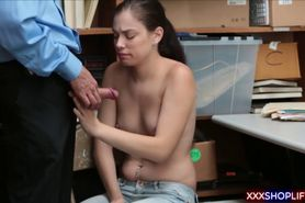 Girl next door caught stealing and fucked by the security