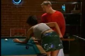 Couple fuck on pool table