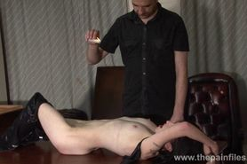 Amateur bdsm and bedroom spanking of submissive Fae Corbin in kinky private sado maso play and hot waxing punishment of lifestyl