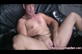 submissive guy spanked by his femdom wife