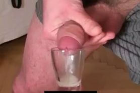 Wife taking sperm on her knees