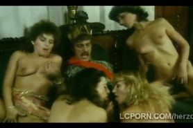 Beautiful vintage babes fuck in medieval masquerade