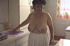 Mature Woman With Big Tits Teasing
