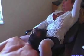 Blonde MILF get fucked in the office