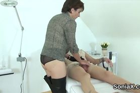 Unfaithful british mature lady sonia pops out her enormous boobs