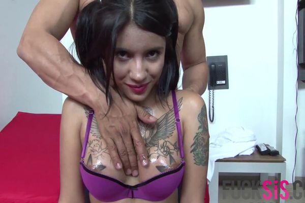 Tattooed Latina chick Natalia Mendez sucks and rides without being tired  585981