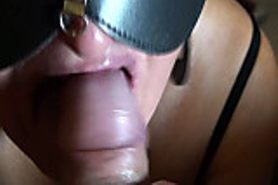 Foreskin-blowjob&swallow huge load