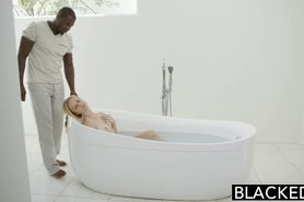 First Interracial for Beautiful Blonde Taylor Whyte