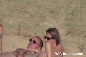 Nudist beach cock tease