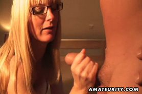 Busty amateur Milf anal with cum in mouth