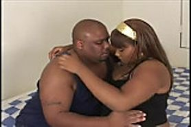 Ebony BBW Diamond takes a fat dick.