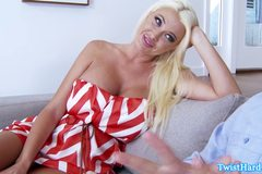 Summer Brielle bigtit babe jizzed on
