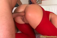 CFNM babe Ivana Sugar in anal foursome