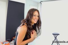 Newbie model gets first time anal on photoshoot