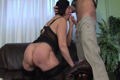Mature Granny with Hairy Bush Fucked by Young Stud